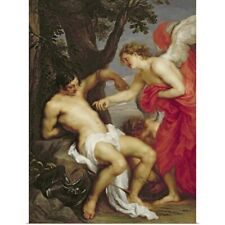 Poster Print Wall Art entitled Saint Sebastian and the Angel
