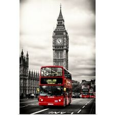 Poster Print Wall Art entitled London Red Bus and Big Ben