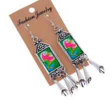 Bohemian Style Women Ethnic Jewelry Earrings Embroidery Tassel Dangle Earring