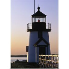 Poster Print Wall Art entitled Nantucket Brant Point Lighthouse At Sunrise,