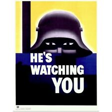 Poster Print Wall Art entitled Hes Watching You,Vintage Poster