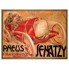 Poster Print Wall Art entitled Pneus Jenatzy, Vintage Poster, by Georges Gaudy