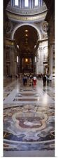 Poster Print Wall Art entitled Interior St Peters Cathedral Rome Italy