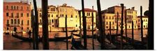 Poster Print Wall Art entitled Gondolas in a canal, Venice, Italy