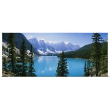 Poster Print Wall Art entitled High angle view of a lake, Moraine Lake, Valley