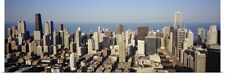 Poster Print Wall Art entitled Aerial view of a city, Chicago, Illinois