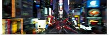 Poster Print Wall Art entitled Blurred view of a city, Times Square, Manhattan,
