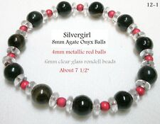 Gemstone Bracelets, Tiger Eye, Jade, Red Agate, Howlite, Black Agate, Multi