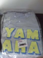 GENUINE YAMAHA MOTORCYCLES GRAY/YELLOW COLUMN 100% COTTON T-Shirt NEW NWT TEE