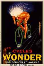 Cycles Wonder Poster Vintage Bicycle Poster  - Cycling