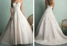 Strapless A-Line Sweetheart New Ivory Wedding Dress Formal Bridal Gown Custom