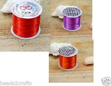 55m x 0.25mm Red Orange Purple Crystal Stretch Floss Elastic Jewellery Cord new