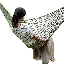 Outdoor Mesh Sleeping Bed Swing Portable Travel Camping Nylon Hammock Hanging