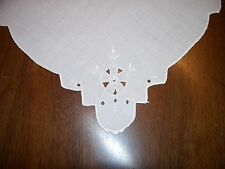 Vintage Lot of 4 Matching Tea Buffet Luncheon NAPKINS - Ivory Color