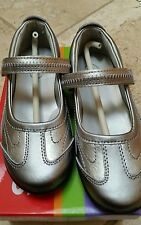 NEW Stride Rite Blaire Pewter Silver Mary Jane, Rubber Sole, Metallic Athletic