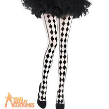 Adult Harlequin Tights Jester Clown Halloween Ladies Fancy Dress Accessory New