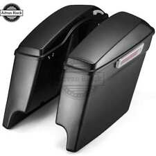 """4.5"""" Stretched Extended Saddlebags Charcoal Pearl for Harley '14-'17 Touring"""
