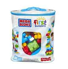 Mega Bloks Classic Buildable Bag 60 Pieces First Builders Large Colourful Blocks