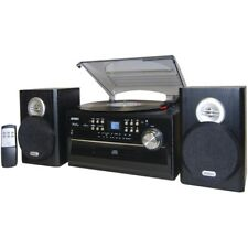 Jensen JTA-475 3-Speed Turntable With CD  Cassette and AM/FM Stereo Radio