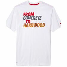 "Nike ""From Concrete To Hardwood"" Dri-Fit Basketball T-Shirt White Men's XL 2XL"