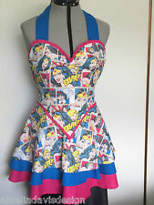 VINTAGE RETRO COSPLAY APRON R U WONDER WOMAN DESIGNED AND MADE