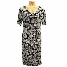 Ex Marks and Spencer M&S Floral Print Cowl Neck Bodycon Dress BNWT-R