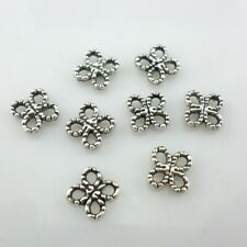 80/240/120pcs Tibetan Silver Charms Flower Connectors Spacer Beads for Jewelry