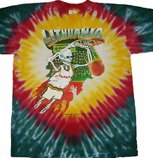GRATEFUL DEAD Original 1992 Design Lithuania Olympics Basketball Tie Dye T-shirt