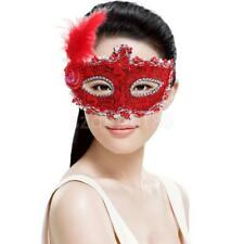 Fancy Dress Lady Feather Lace Eye Mask Masquerade Halloween Party Costume