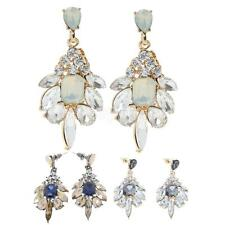 1 Pair Elegant Rhinestone Dangle/Ear Stud Earrings Crystal Statement Jewelry