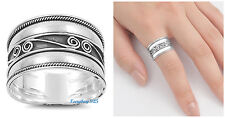 Sterling Silver 925 PRETTY HANDMADE BALI W/ SCROLL & ROPE DESIGN RING SIZES 5-12