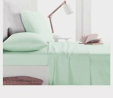1000TC Egyptian Cotton 1pc  FITTED SHEET Sateen Solid Mint Green