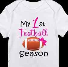 "Pink ""1st Football Season"" Onesie - Cute Baby Girl clothes- Newborn Daddy's Girl"