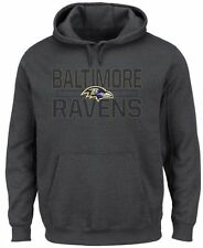 Baltimore Ravens NFL Mens Majestic Kick Return Hoodie Charcoal Big & Tall Sizes