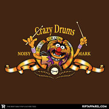 THE MUPPETS Animal Electric Mayhem Crazy Drums Limited Edition Mens T-Shirt M-2X