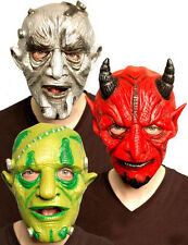 Halloween Scary Masks Latex Mask Red Devil Monster Alien Moving Mouth