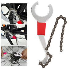 Cycling Bike Cassette Chain Whip Pedal Spanner Lock Ring Remover Wrench Cog Tool