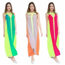 Trendy Women Lady's Sleeveless Maxi Cocktail Party Long Slim Dress S-XL Gift