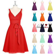 STOCK Short/Mini Formal Bridesmaid Dresses Prom Party Evening Cocktail Ball Gown