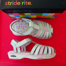 New Stride Rite Girl Toddler Dress Casual Summer Sandals Pink Silver White
