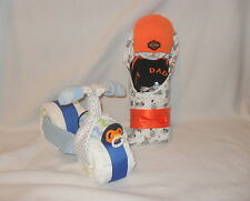 """BOY!  """"My Daddy Rides A Harley""""  Diaper Cake Baby & Diaper Motorcycle!!"""