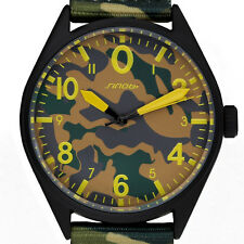 Mens Sports Watches Luxury Boys Military Wristwatch Camouflage Nylon Watch Band