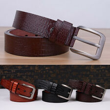 Fashion Men Casual Waistband Faux Leather Metal Pin Buckle Belt Waist Strap New