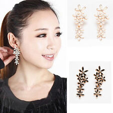 New Fashion Delicate Cluster Flower Snowflake Dangle Earring Stud Gold Plated
