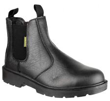 Amblers FS116 Dealer Safety Boots Black With Steel Toe Cap & Midsole Sizes 3