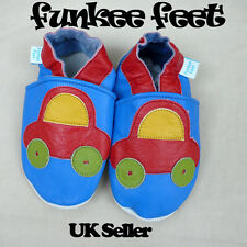 SOFT LEATHER BABY SHOES 0-6,6-12,12-18,18-24 mths CARS