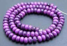 SALE 4*6mm Rondelle Natural purple sugilite Loose Beads strand 15'' -los687