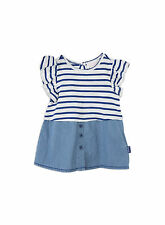 Pumpkin Patch Baby Girls Stripe Knit and Denim Dress