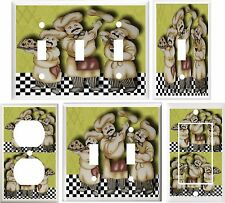 FAT CHEF KITCHEN DECOR LIGHT SWITCH COVER PLATE OR OUTLET V870