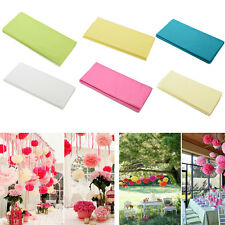 20 Sheets Tissue Paper Solid Colour Wrap Acid Free Flowers 6 colors